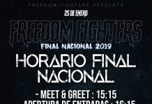 Horario Final Nacional Freedoom fighters 2019